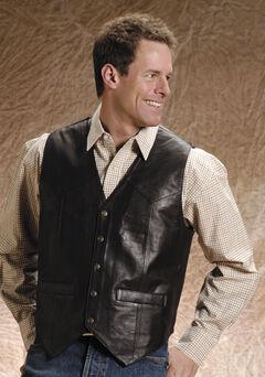 Roper Men's Leather Vest - Big and Tall, , hi-res