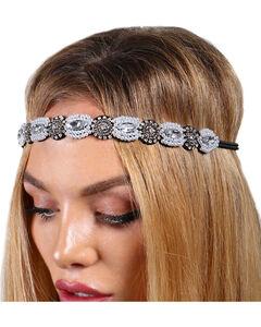 Shyanne® Women's Pearly Rhinestones Headband, Black, hi-res