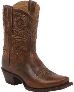 Tony Lama Tan Baja 100% Vaquero Cowgirl Booties - Square Toe, , hi-res