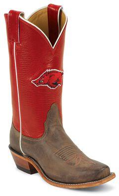 Nocona Women's University of Arkansas College Boots - Snip, , hi-res
