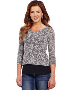 Cowgirl Up Women's Cut-Out Back Sweater Knit Top, , hi-res