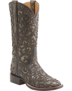 Lucchese Women's Sierra Lasercut Western Boots - Square Toe , , hi-res