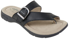 Eastland Women's Black Tahiti II Thong Sandals , , hi-res