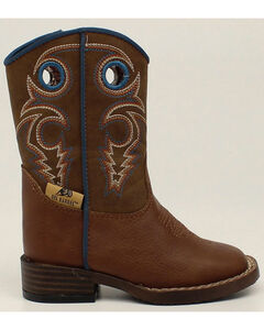 Double Barrel Boys' Zip Dylan Boots - Square Toe, , hi-res