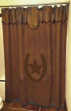 Star & Horseshoe Shower Curtain, , hi-res