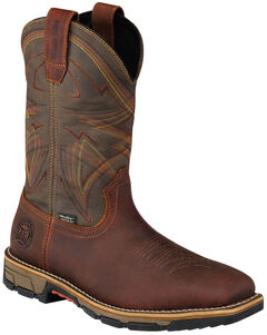 Red Wing Irish Setter Marshall Brown Work Boots - Steel Toe , , hi-res