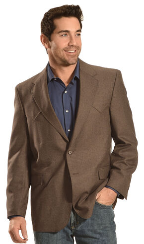 Circle S Men's Brown Fort Worth Sport Coat , Brown, hi-res