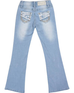 Shyanne Girls' Lace & Bling Boot Cut Jeans , , hi-res