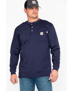 Carhartt Flame Resistant Henley Long Sleeve Work Shirt, , hi-res