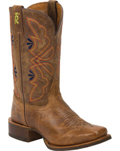 Tony Lama Honey Sierra 3R Stockman Cowgirl Boots - Square Toe, , hi-res