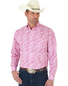 "Wrangler ""Tough Enough To Wear Pink"" Print Long Sleeve Shirt, Pink, hi-res"
