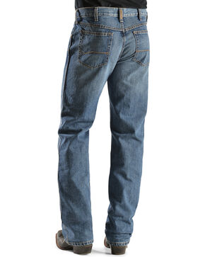 "Ariat Men's Heritage Denim Relaxed Fit Bootcut Jeans - 38"" Inseam, Med Stone, hi-res"