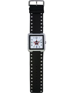 Montana Silversmiths PBR Studded Leather Watch, , hi-res