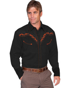 Scully Men's Horse Embroidered Western Shirt, , hi-res