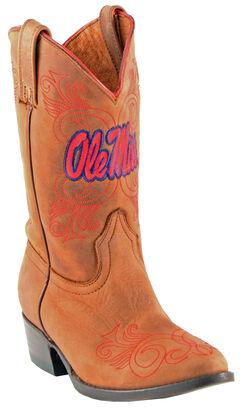 Gameday Boots Girls' University of Mississippi Western Boots - Medium Toe, , hi-res