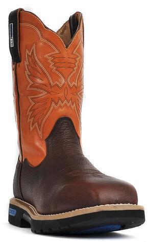 Cinch® WRX Men's Waterproof Steel Toe Work Boots, Brown, hi-res
