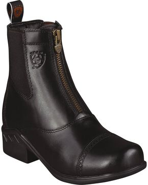 Ariat Heritage Paddock Zip-Up Riding Boots - Round Toe, Black, hi-res