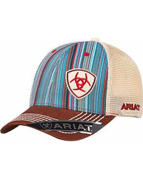 Ariat Men's Colorful Pinstripe Baseball Cap , Multi, hi-res