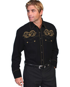 Scully Embroidered Star Scroll Shirt, , hi-res