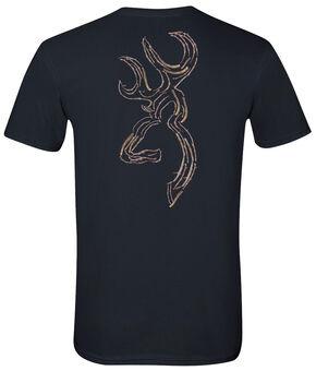 Browning Men's Twig Buckmark Black Short Sleeve Tee, Black, hi-res