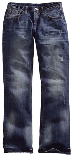 Tin Haul Men's Jagger Fit Two-Tone Stitch Bootcut Jeans, , hi-res