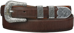 Lucchese Men's Tan Ranch Hand Leather Belt, , hi-res