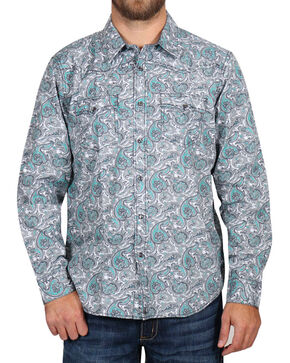 Cody James Men's Rodeo Paisley Long Sleeve Shirt - Tall , Grey, hi-res