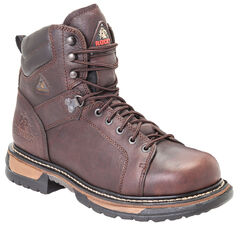 Rocky Ironclad Waterproof Lace-to-Toe Work Boots - Round Toe, , hi-res