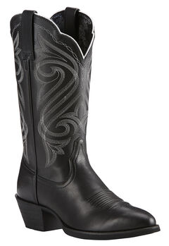 Ariat Round-Up Cowgirl Boots - Round Toe, Black, hi-res