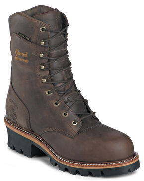 "Chippewa Waterproof Insulated Super 9"" Logger Boots - Round Toe, Bay Apache, hi-res"