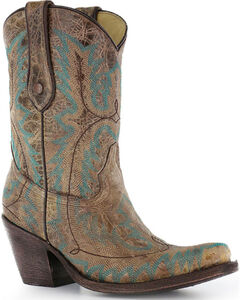 """Corral Women's 9"""" Stitched Fashion Western Boots - Snip Toe, , hi-res"""