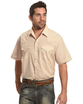 Ely Cattleman Men's Short Sleeve Solid Western Shirt , , hi-res