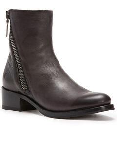 Frye Women's Dark Grey Demi Zip Booties - Round Toe , , hi-res