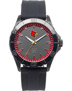 Jack Mason Men's Louisville Cardinals Blackout Silicone Strap Watch , , hi-res
