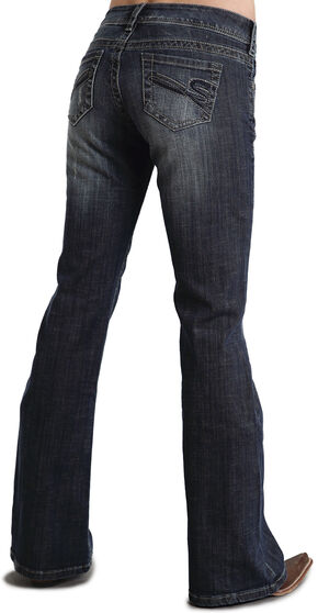 """Stetson Women's 816 Fit """"S"""" Stitch Bootcut Jeans, Denim, hi-res"""