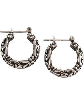 Silver Legends Women's All Silver Celtic Hoop Earrings , Silver, hi-res