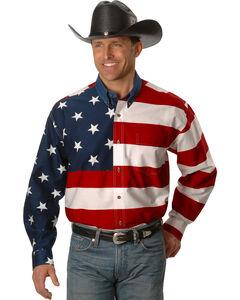 Roper Flag Print Shirt, , hi-res