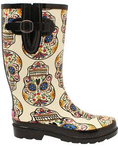 Blazin Roxx Women's Rocki Sugar Skull Rain Boots, , hi-res