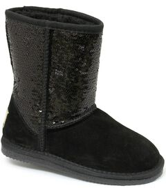 Dije California Girls' Sequin Sheepskin Classic Boots, , hi-res