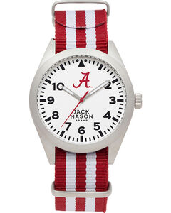 Jack Mason Men's University of Alabama Striped Nato Strap Watch , , hi-res