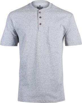 American Worker Men's Solid Short Sleeve T-Shirt - Big & Tall, Heather Grey, hi-res