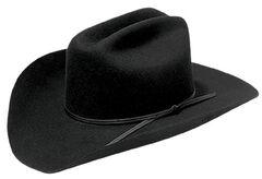 Master Hatters Men's Rodeo Bill 2X Black Wool Cowboy Hat, , hi-res