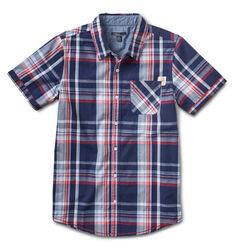 Silver Boys' Plaid Short Sleeve Shirt, , hi-res