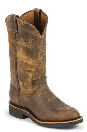 Chippewa Crazyhorse Pull-On Work Boots - Round Toe, Sand, hi-res