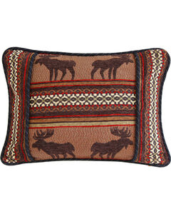 HiEnd Accents Bayfield Oblong Moose Pillow, , hi-res