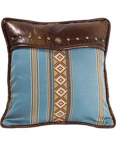 HiEnd Accents Ruidoso Blue Striped Throw Pillow, , hi-res