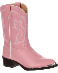 Durango Little Girls' Pink Western Boots - Round Toe, , hi-res