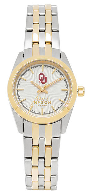 Jack Mason Women's University of Oklahoma Two-Tone Bracelet Watch , Multi, hi-res
