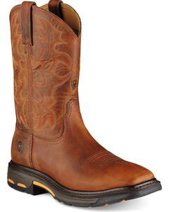 Ariat Workhog Pull-On Work Boots - Square Toe, , hi-res