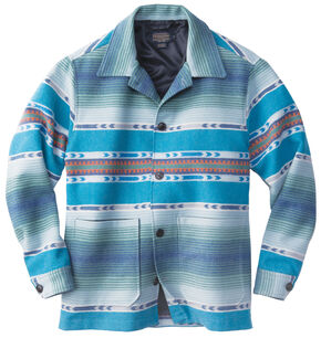 Pendleton Men's Blue Surf Shirt Wool Jacket , Multi, hi-res